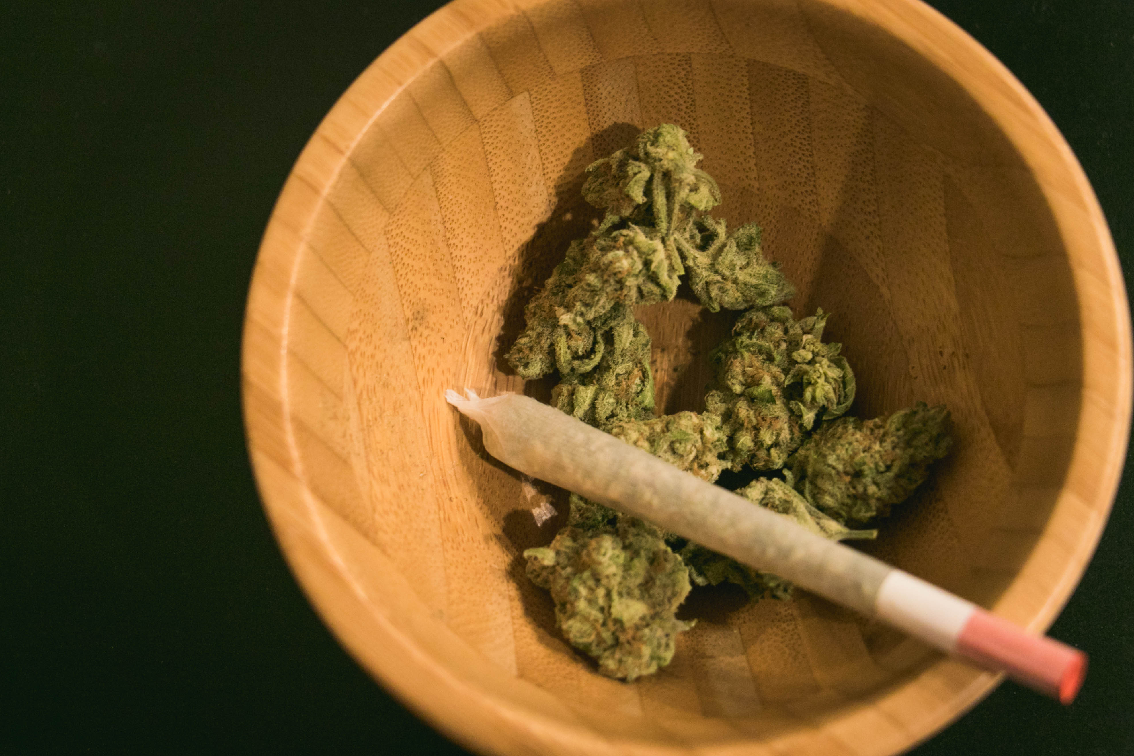 weed sample and joint