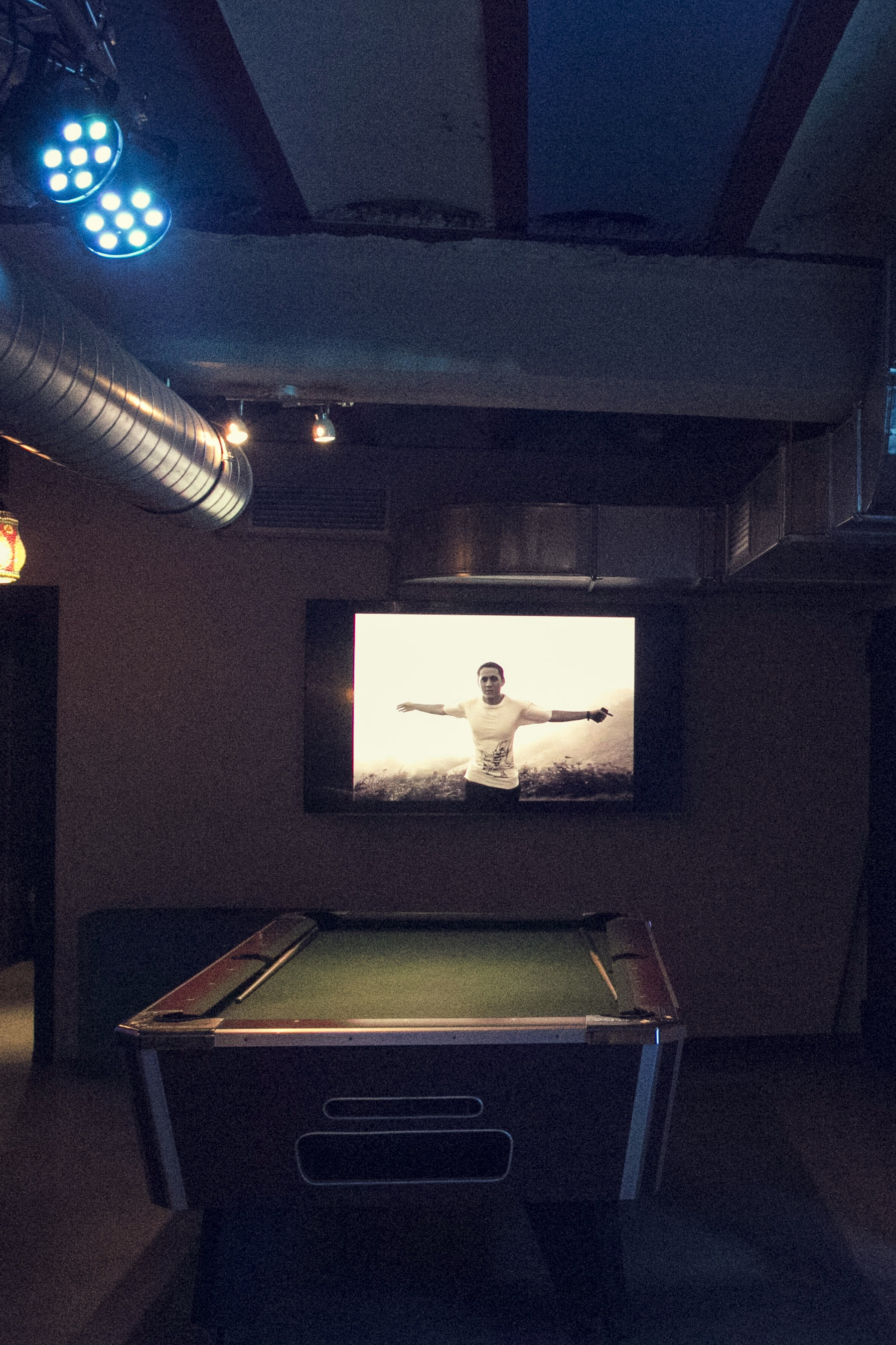 g13 cannabis club pool table and tv